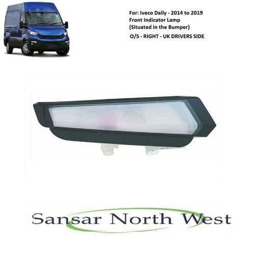 For Iveco Daily - Drivers Side Front Indicator O/S RIGHT - 2014 to 2019 Models